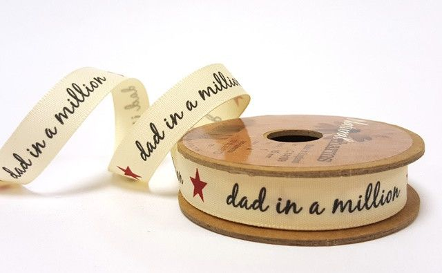 15mm Dad in a Million Print Ribbon