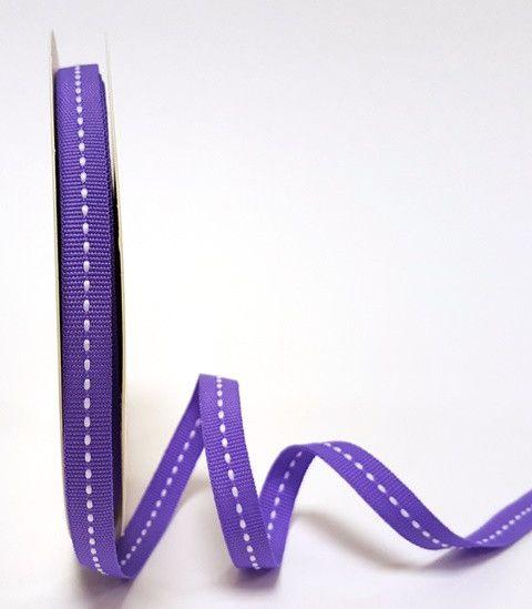 Bertie's Bows Purple 9mm Centre Stitch Grosgrain Ribbon