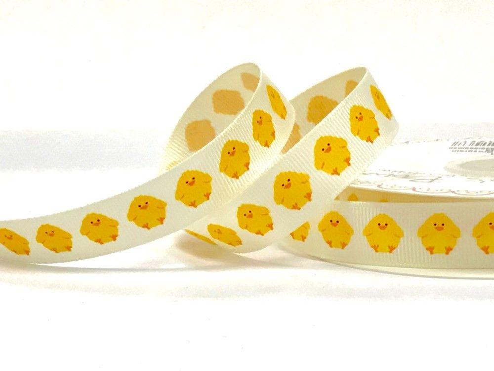 Bertie's Bows 16mm Polyester Grosgrain Ribbon Chicks print