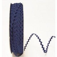 Bertie Bows Ric Rac Ribbon Navy 5mm