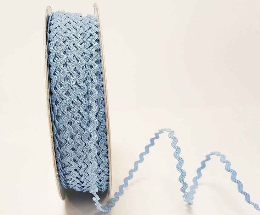 Bertie Bows Ric Rac Ribbon Sky Blue 5mm