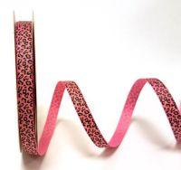 Bertie's Bows Fuchsia Leopard Print 9mm Grosgrain Ribbon