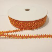 Mini Tassel Fringe Trims 7mm Orange
