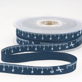 Tape Measure Ribbon 10mm Navy