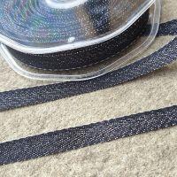 Metallic Chevron Ribbon 11mm Black