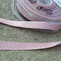 Metallic Chevron Ribbon 11mm Pink