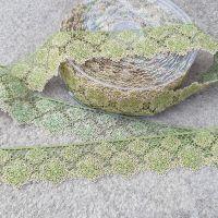 Flower Lace Trim 35mm Khaki