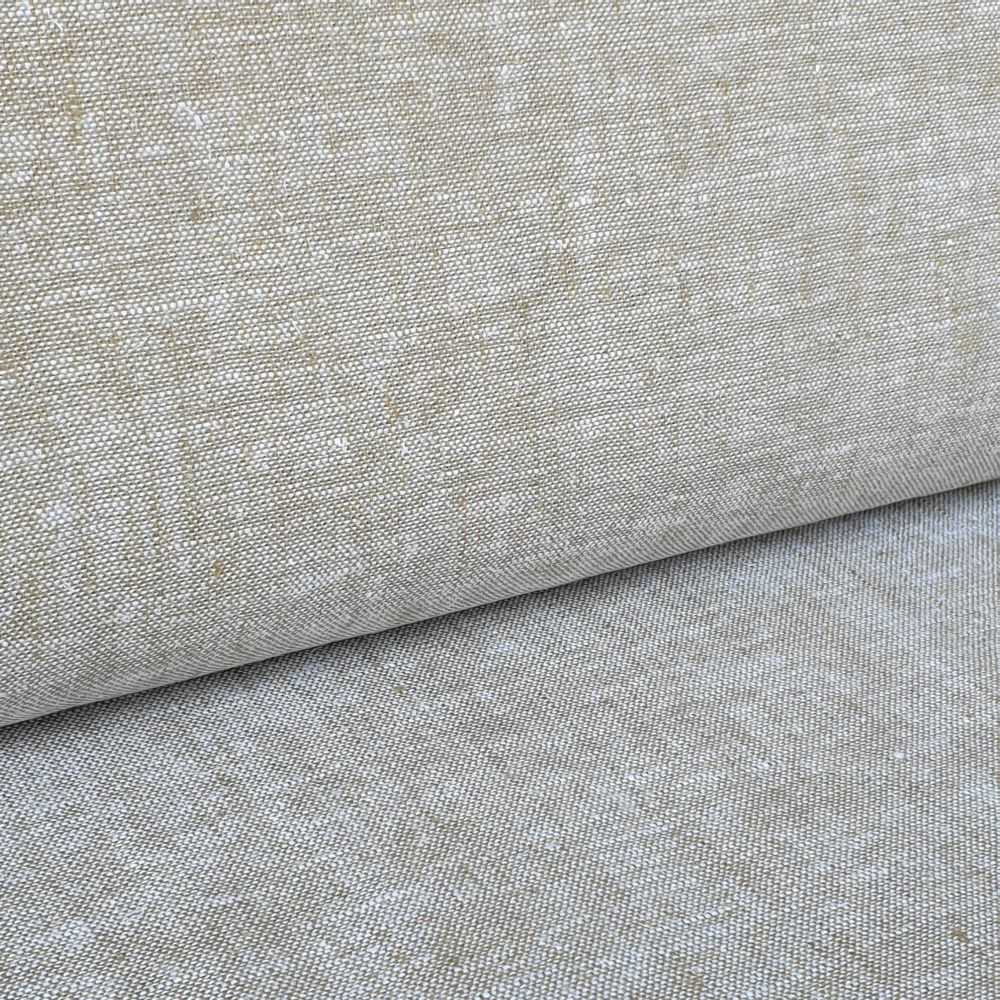 Stone Linen Viscose Mix Fabric