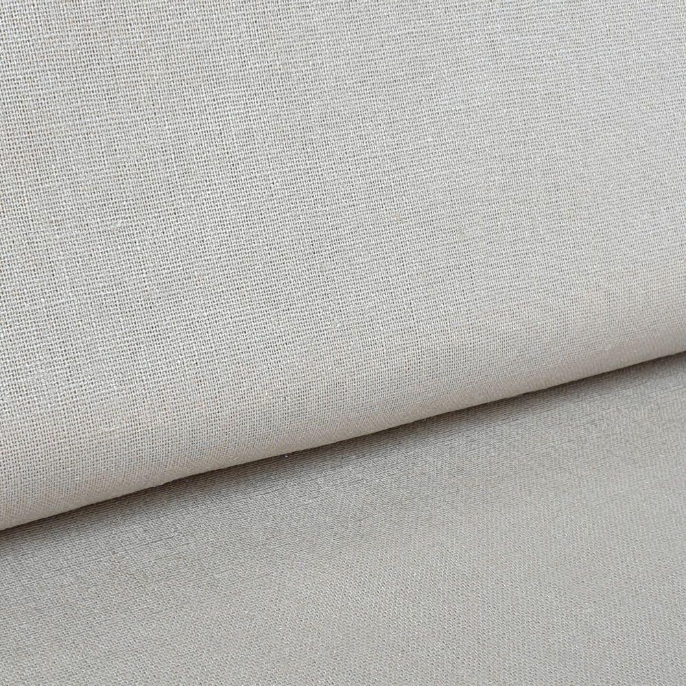 Beige Linen Viscose Mix Fabric