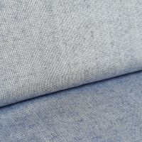 Blue Metallic Viscose Linen Look Fabric