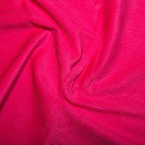 Cotton Needlecord Corduroy Fuschia