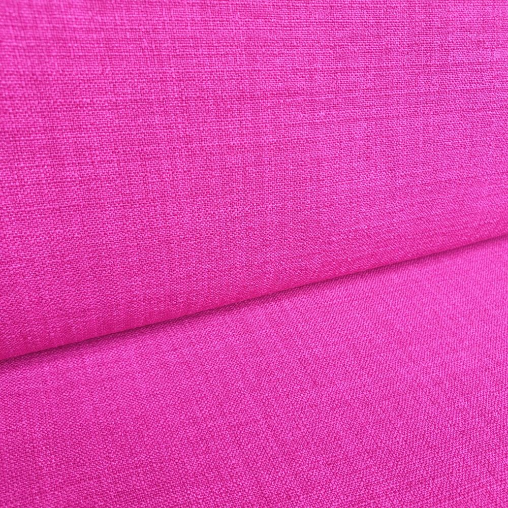 Polyester Linen Look Fabric Fuschia