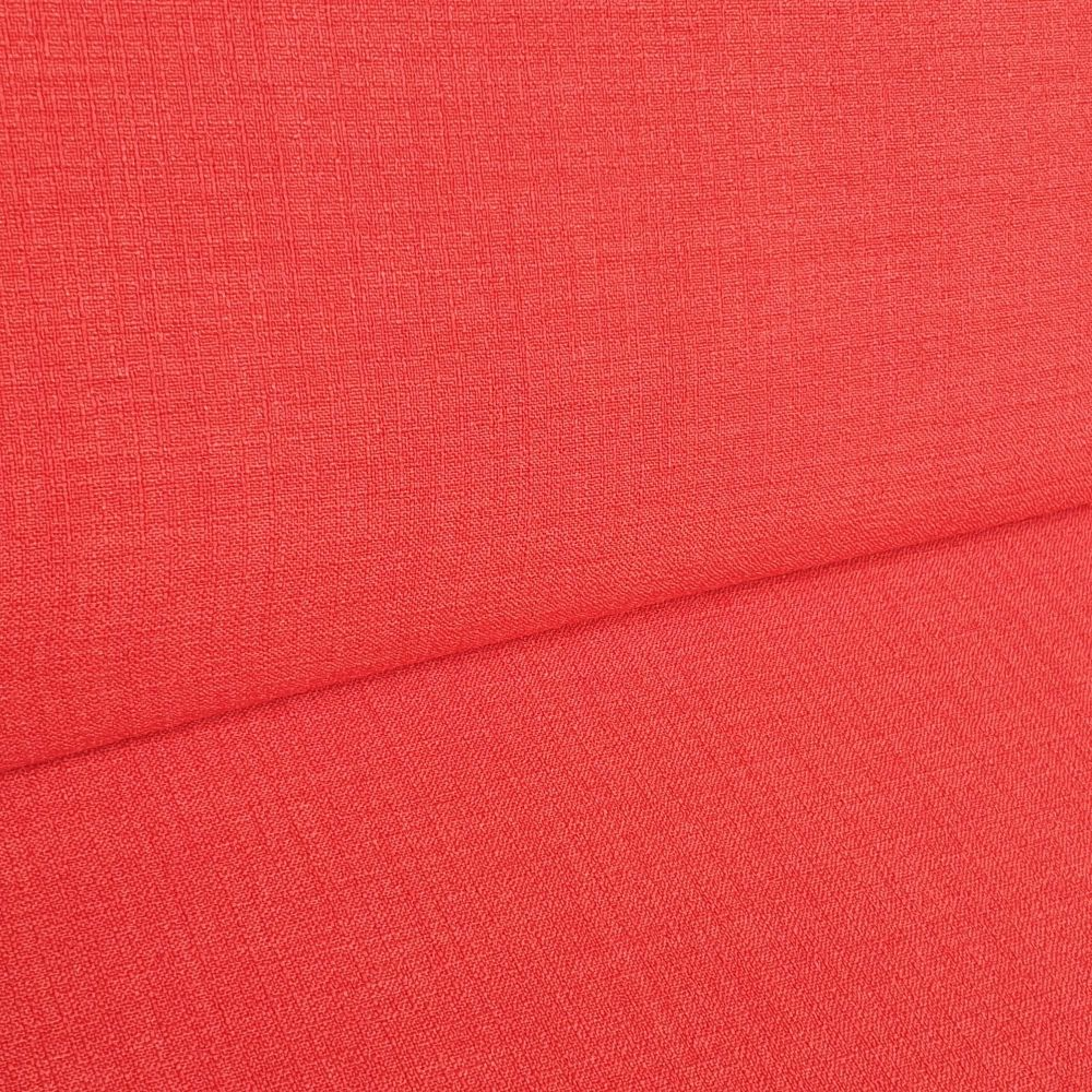 Polyester Linen Look Fabric Red