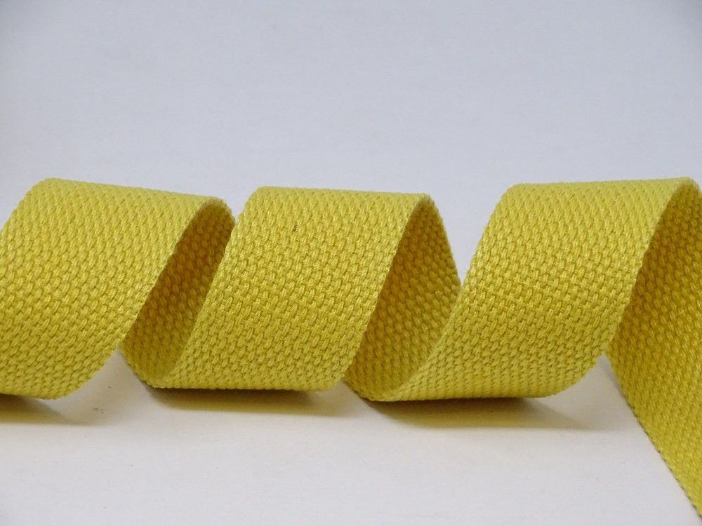 30mm Maize Bertie's Bows Cotton Blend Heavy Weight Webbing 5 Metre Roll