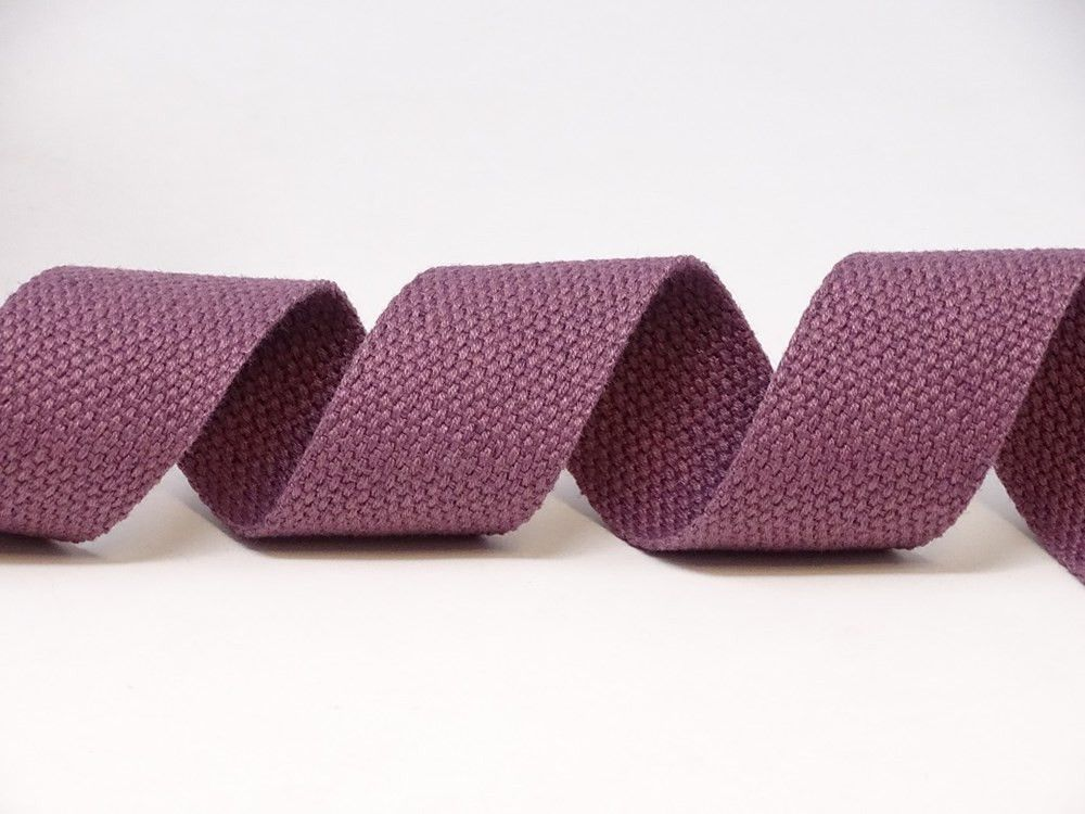 30mm Dusky Mauve Bertie's Bows Cotton Blend Heavy Weight Webbing 5 Metre Roll