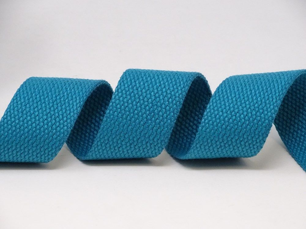 30mm Teal Bertie's Bows Cotton Blend Heavy Weight Webbing
