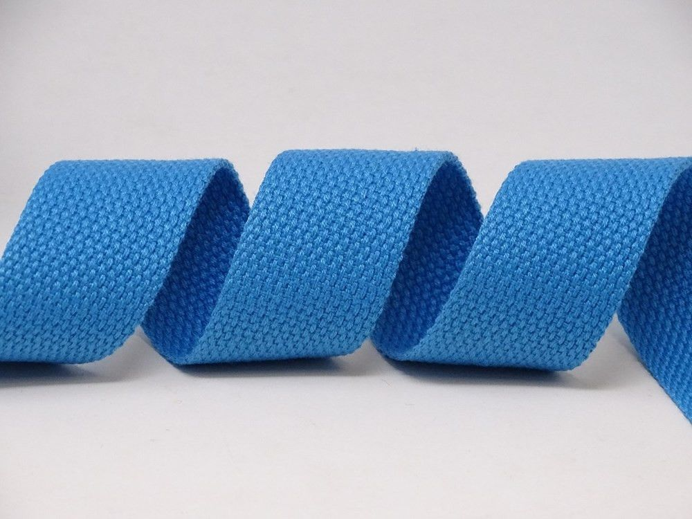 30mm Turquoise Bertie's Bows Cotton Blend Heavy Weight Webbing 5 Metre Roll