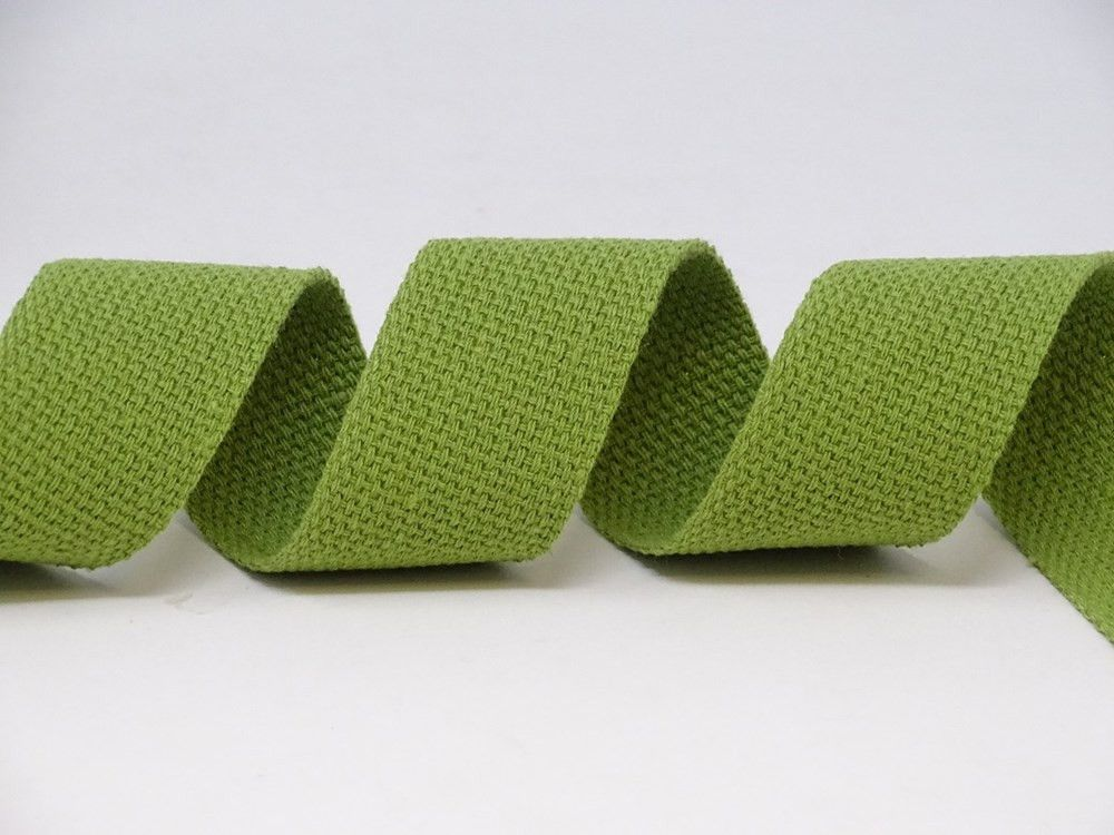 30mm Olive Bertie's Bows Cotton Blend Heavy Weight Webbing 5 Metre Roll