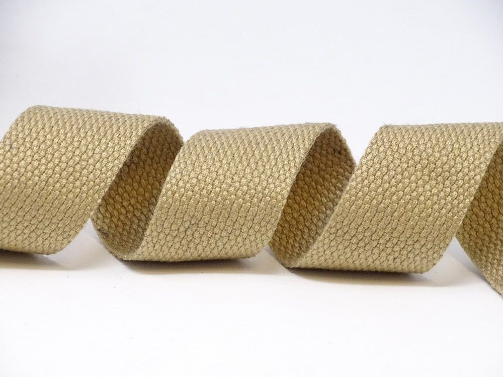 30mm Natural Bertie's Bows Cotton Blend Heavy Weight Webbing 5 Metre Roll
