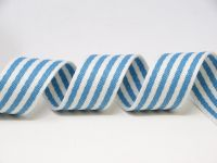 35mm Blue/White Stripe Medium  Weight Webbing