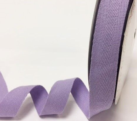 25mm Bertie's Bows Cotton Herringbone Webbing Lilac