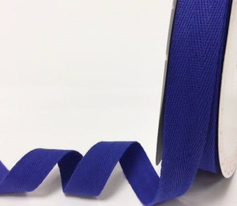 25mm Bertie's Bows Cotton Herringbone Webbing Royal Blue