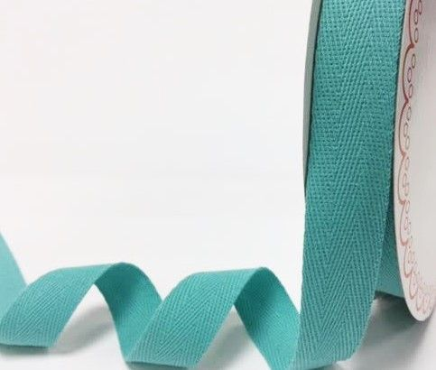25mm Bertie's Bows Cotton Herringbone Webbing Aqua