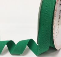 25mm Bertie's Bows Cotton Herringbone Webbing Green