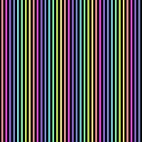 Makower Rainbow Stripes Black Cotton Fabric