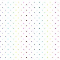 Makower Rainbow Swiss White Cotton Fabric