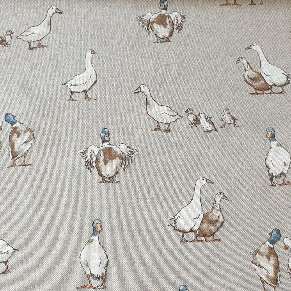 Ducks Cotton Canvas Fabric