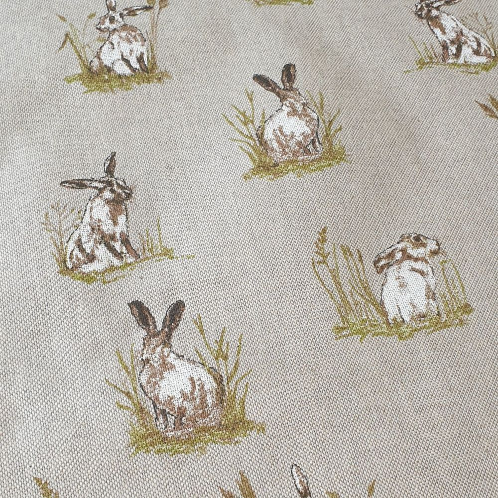 Hares Cotton Canvas Fabric