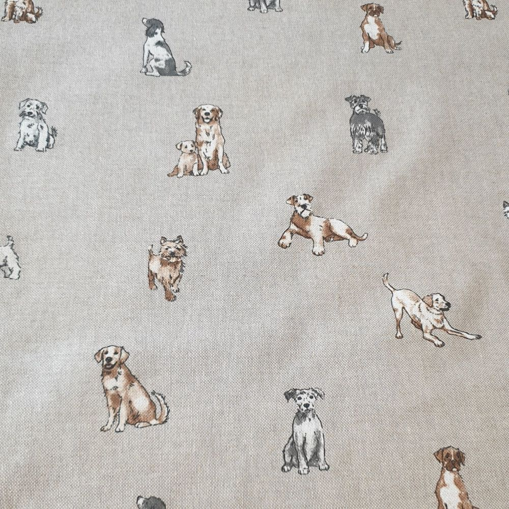 Dogs Cotton Canvas Fabric