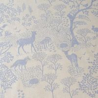 Forest Animals Cotton Canvas Fabric