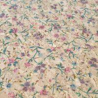 Floral Printed Cork Fabric
