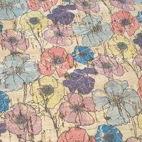 Poppy Cork Fabric