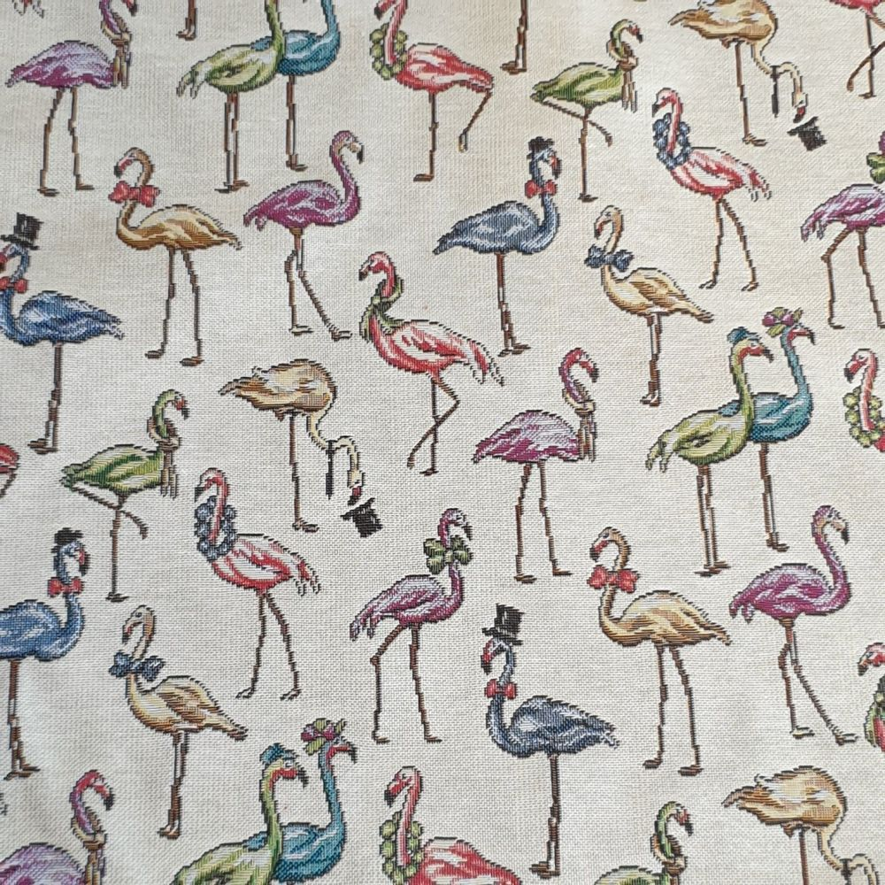 New World Tapestry Flamingos Fabric