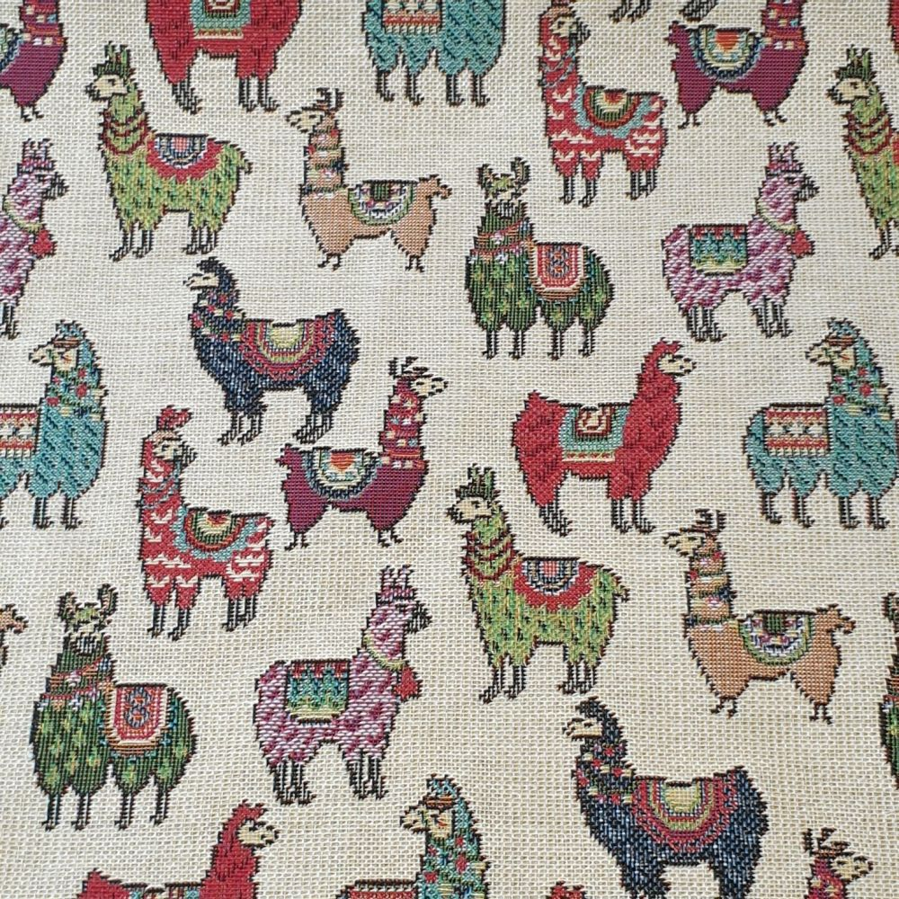 New World Tapestry Llamas Fabric