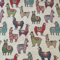 New World Tapestry Llamas Fabric