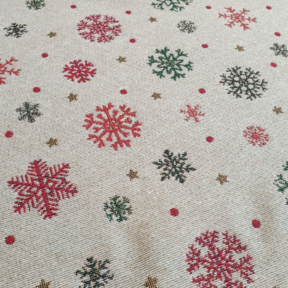 New World Tapestry Snowflakes Fabric