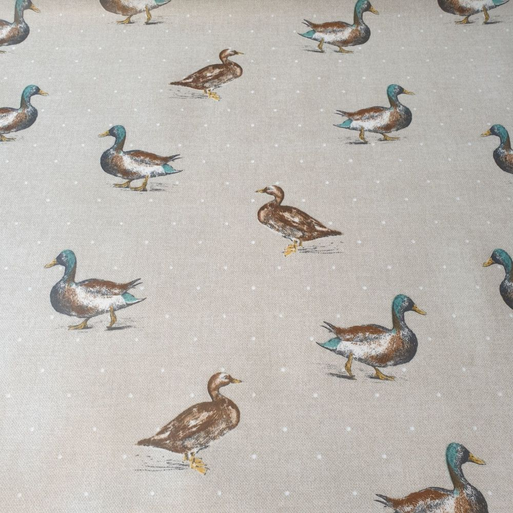 Oilcloth Fabric Ducks