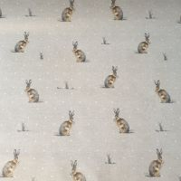 OilCloth Fabric Hares
