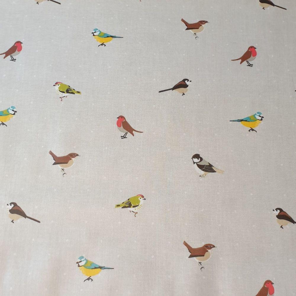 OilCloth Fabric Birds