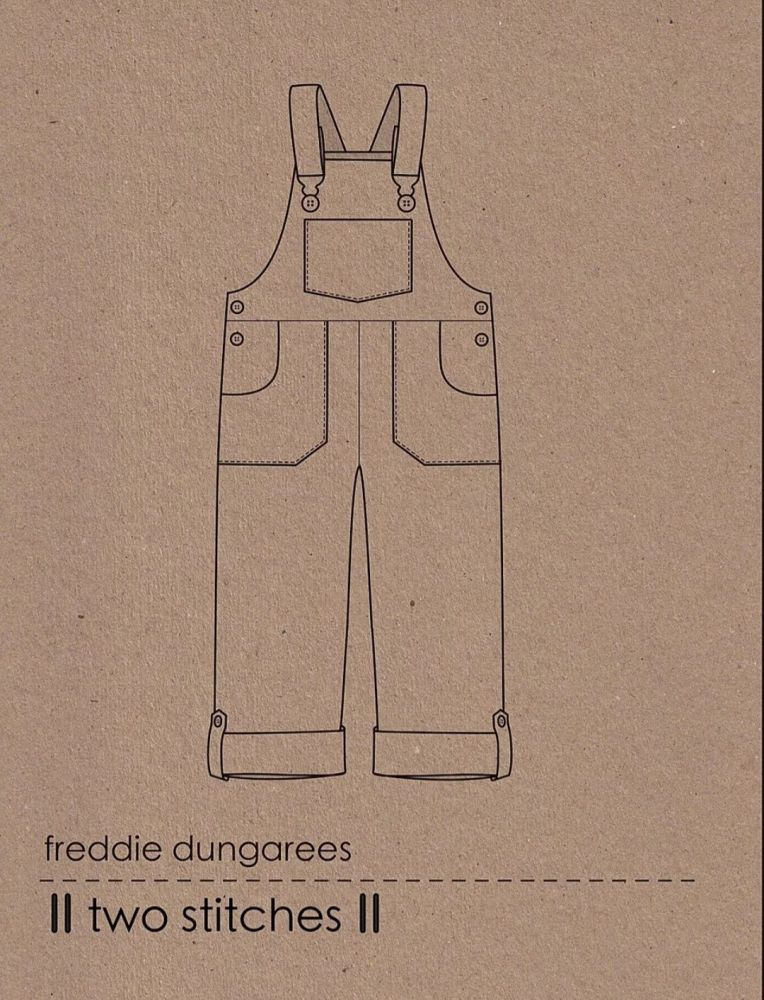 Two Stitches Freddie Dungarees Children's Pattern