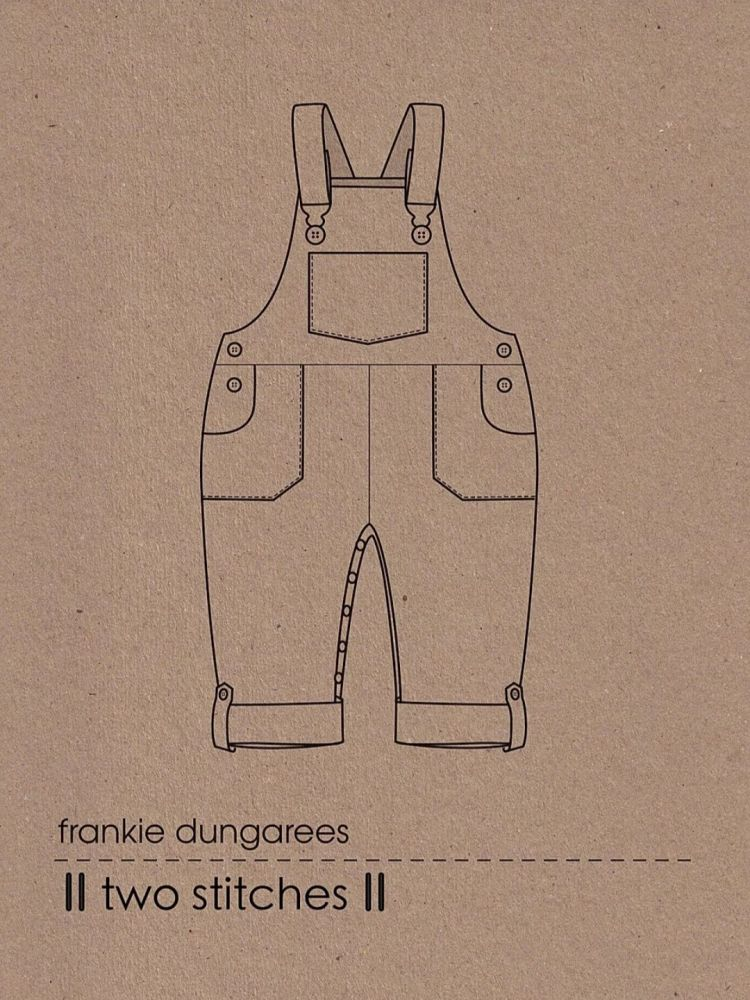 Two Stitches Children's Pattern Frankie Dungarees Childrens Pattern