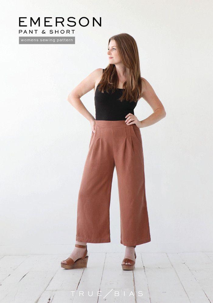 True Bias Emerson Pants & Shorts Sewing Pattern
