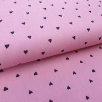 Brushed Dusky Pink Hearts Cotton Fabric