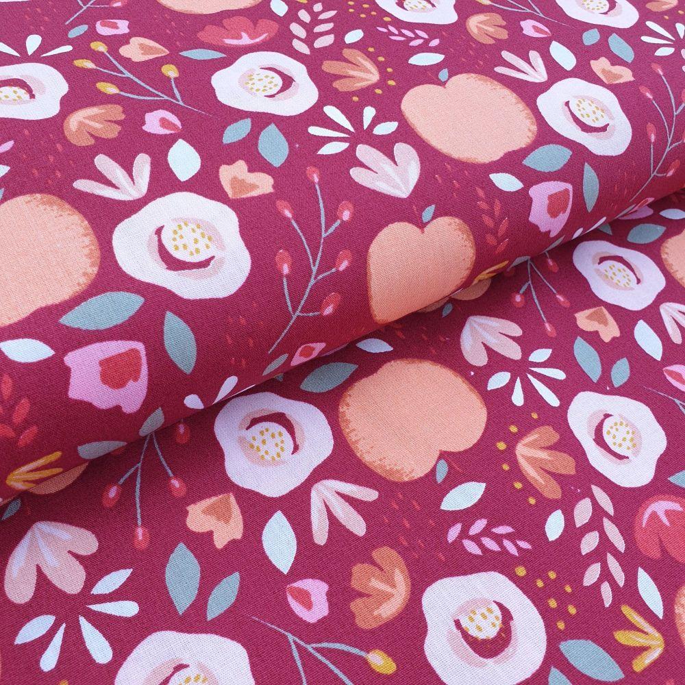 Peaches Cotton Fabric