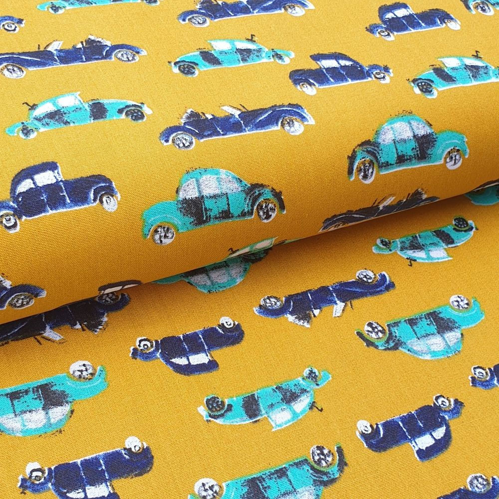 Cool Cars Cotton Fabric