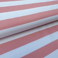 Pink/White Stripes Cotton Fabric